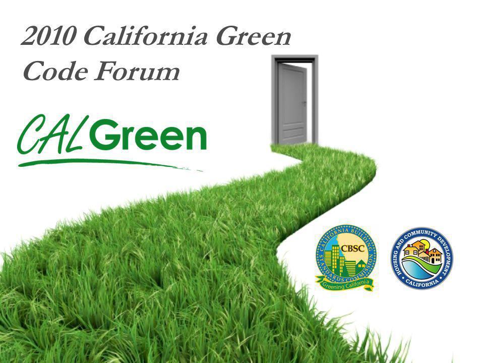 2010 California Green Code Forum