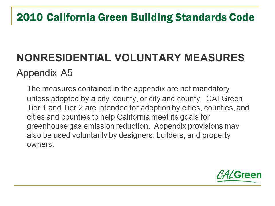 2010 California Green Building Standards Code