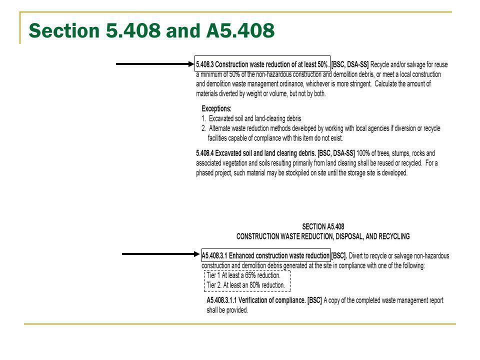 Section 5.408 and A5.408