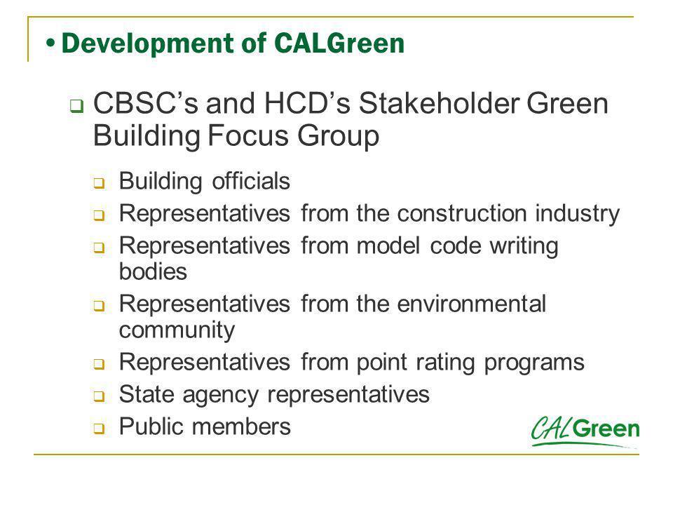 Development of CALGreen