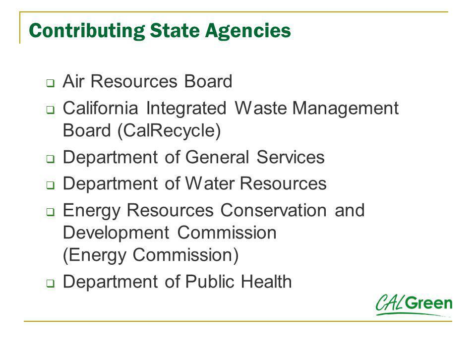 Contributing State Agencies