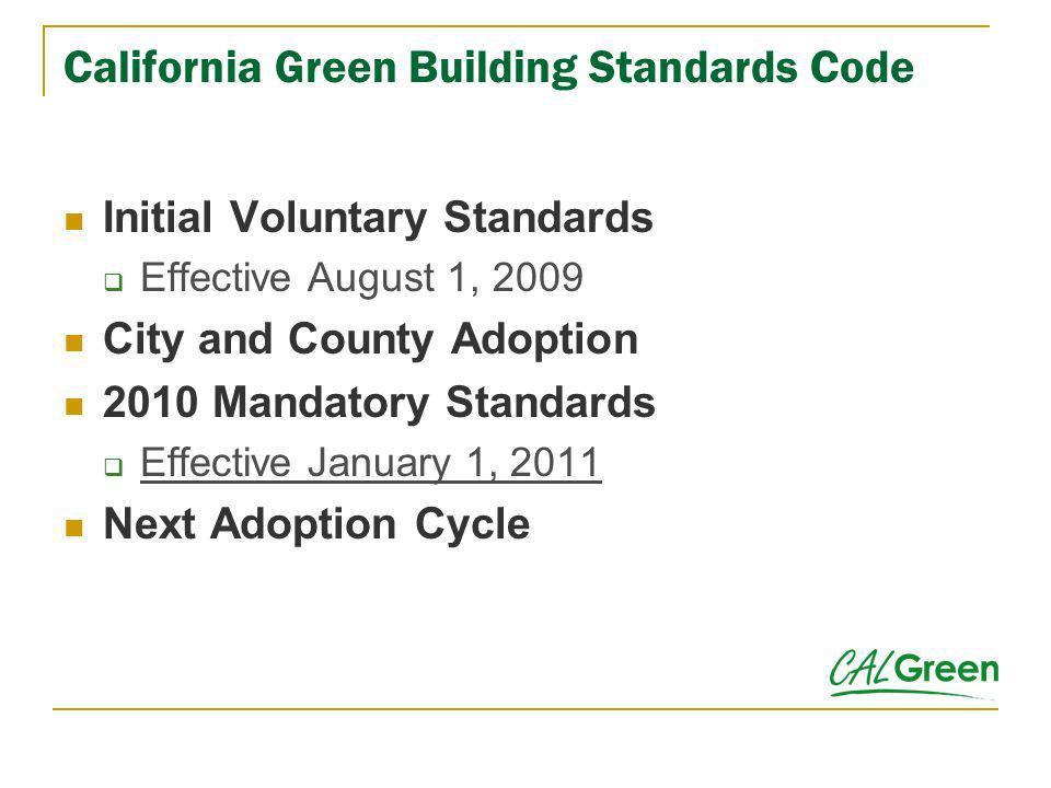 California Green Building Standards Code