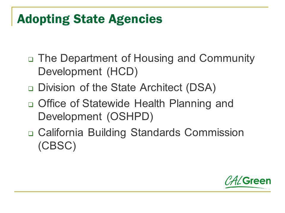 Adopting State Agencies