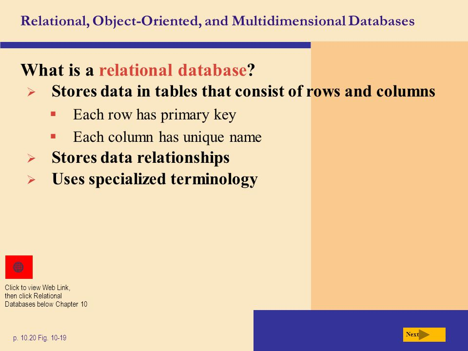 relational database vs object oriented database Sql vs nosql databases: what's the difference non-relational databases are document-oriented and oracle—an object-relational dbms written in the c+.
