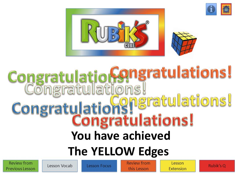 You have achieved The YELLOW Edges