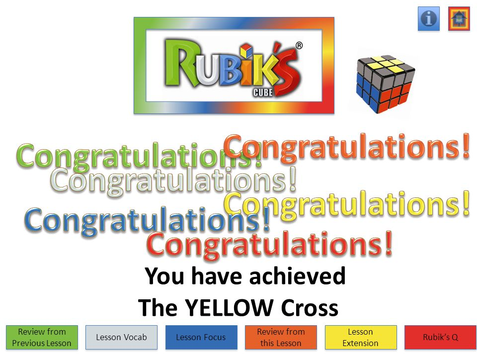 You have achieved The YELLOW Cross