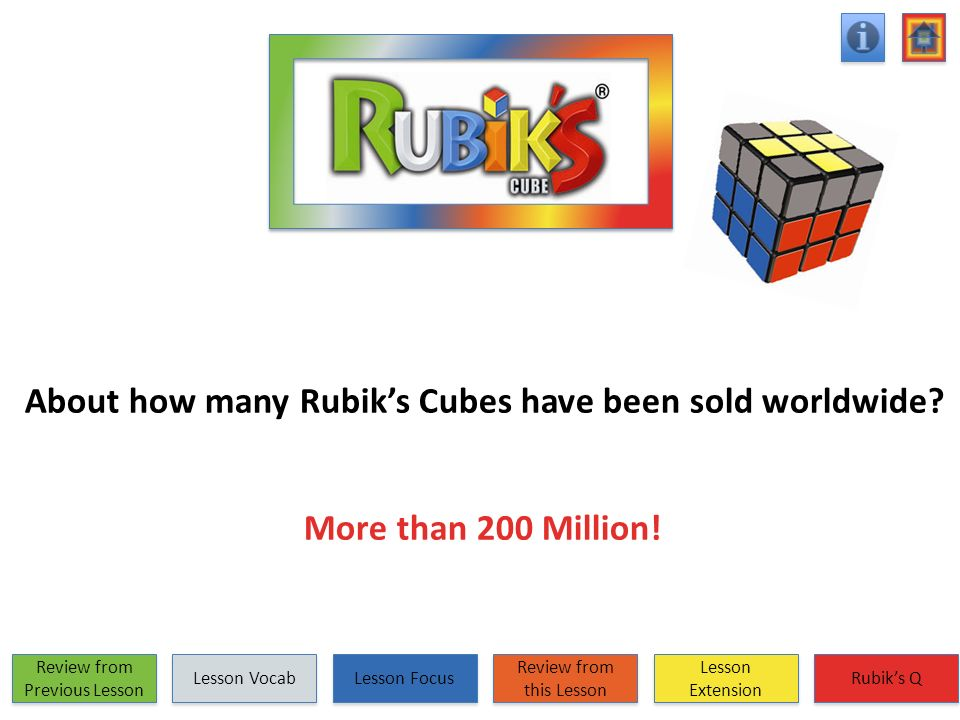 About how many Rubik's Cubes have been sold worldwide