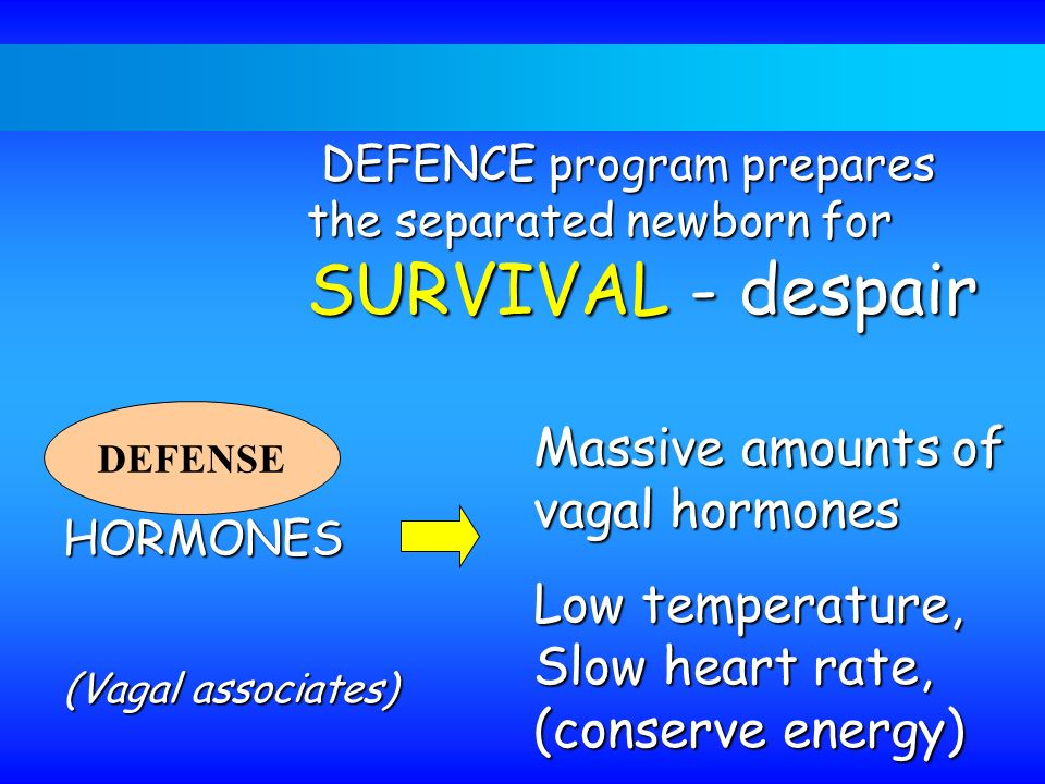 Massive amounts of vagal hormones