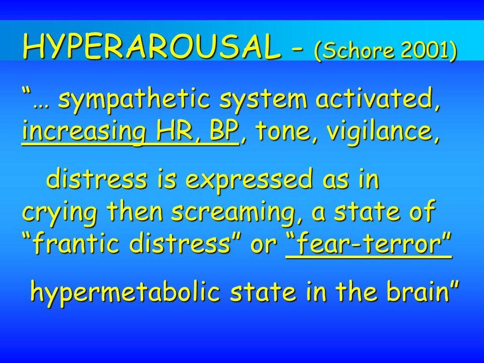HYPERAROUSAL - (Schore 2001)