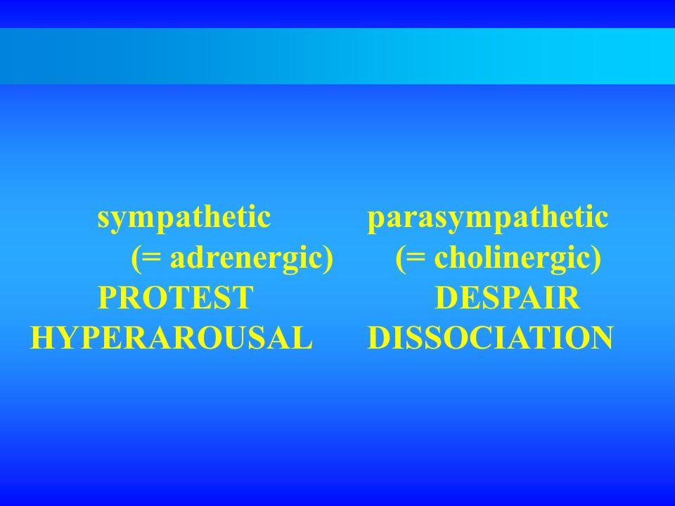 sympathetic parasympathetic (= adrenergic) (= cholinergic)