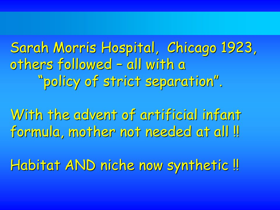 Sarah Morris Hospital, Chicago 1923, others followed – all with a