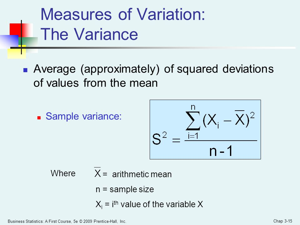 Measures of Variation: The Variance