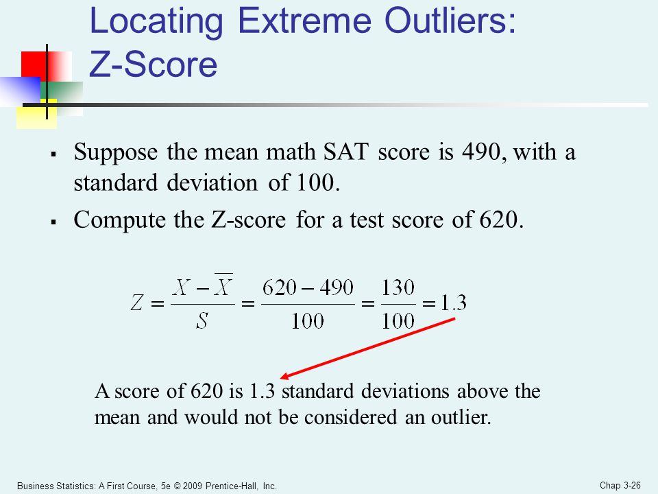 Locating Extreme Outliers: Z-Score
