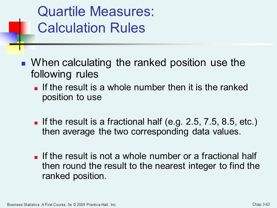 Quartile Measures: Calculation Rules