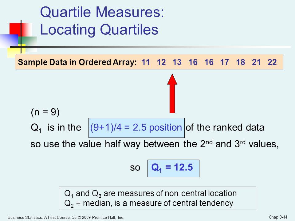 Quartile Measures: Locating Quartiles