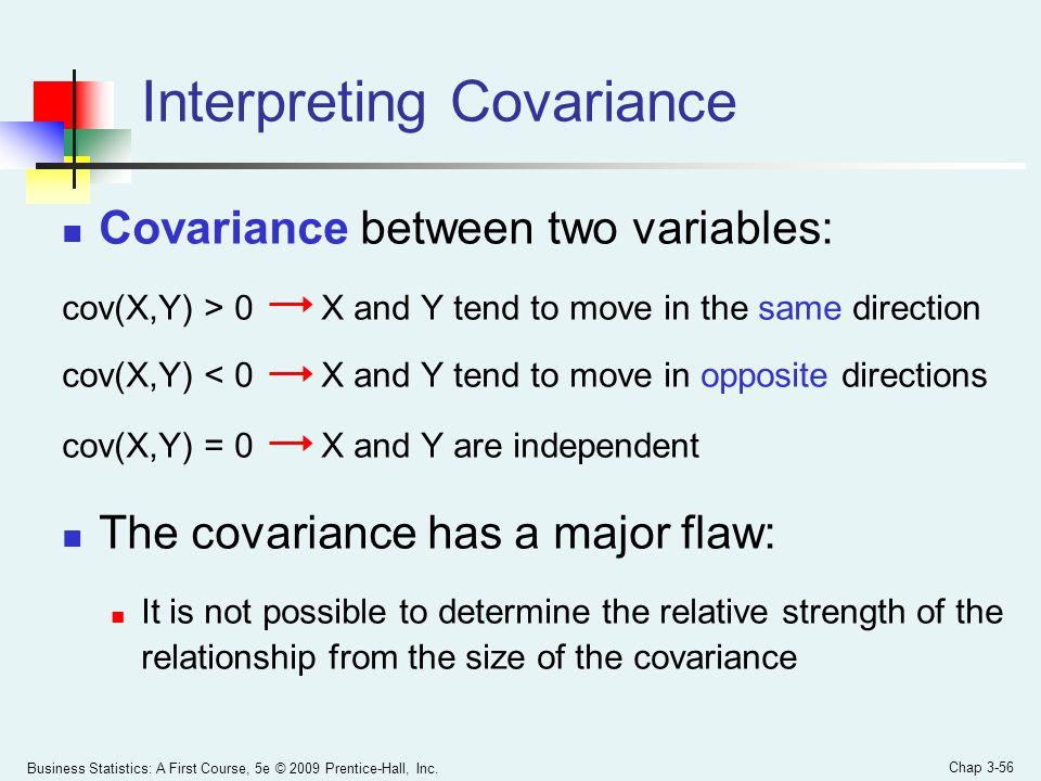 Interpreting Covariance