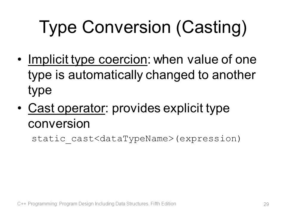 Type Conversion (Casting)
