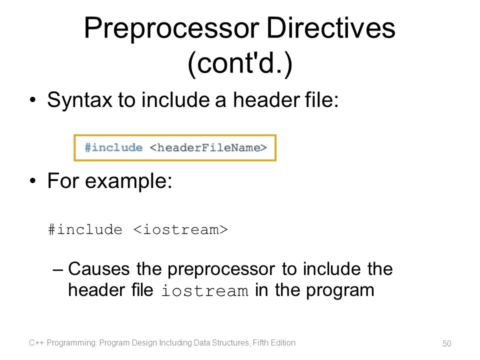 Preprocessor Directives (cont d.)