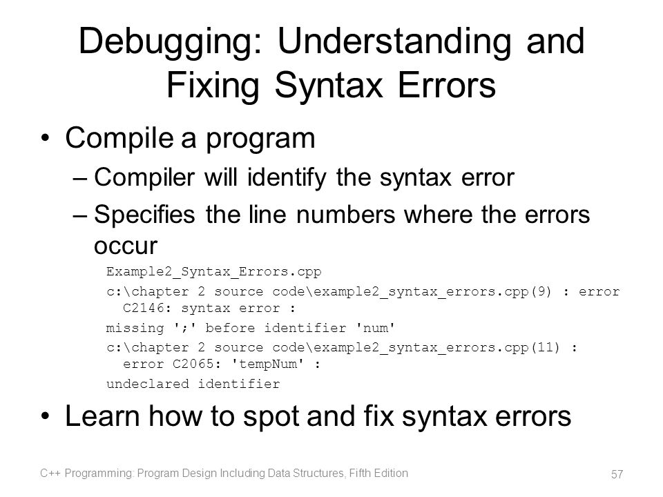 Debugging: Understanding and Fixing Syntax Errors