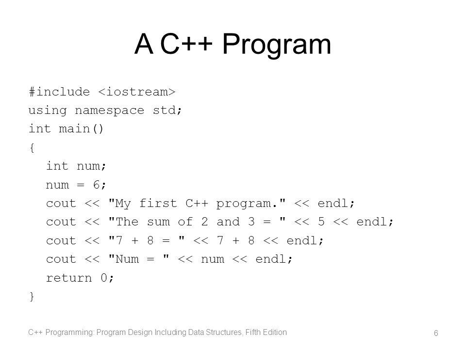 A C++ Program