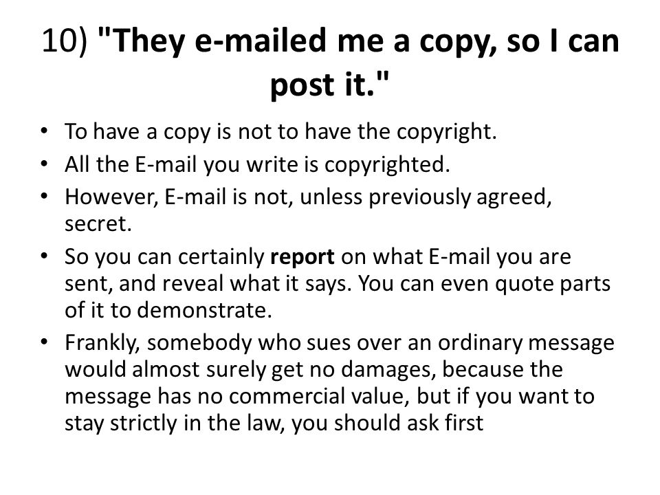10) They e-mailed me a copy, so I can post it.