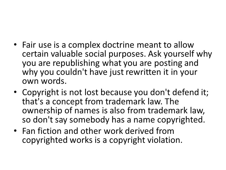 Fair use is a complex doctrine meant to allow certain valuable social purposes. Ask yourself why you are republishing what you are posting and why you couldn t have just rewritten it in your own words.