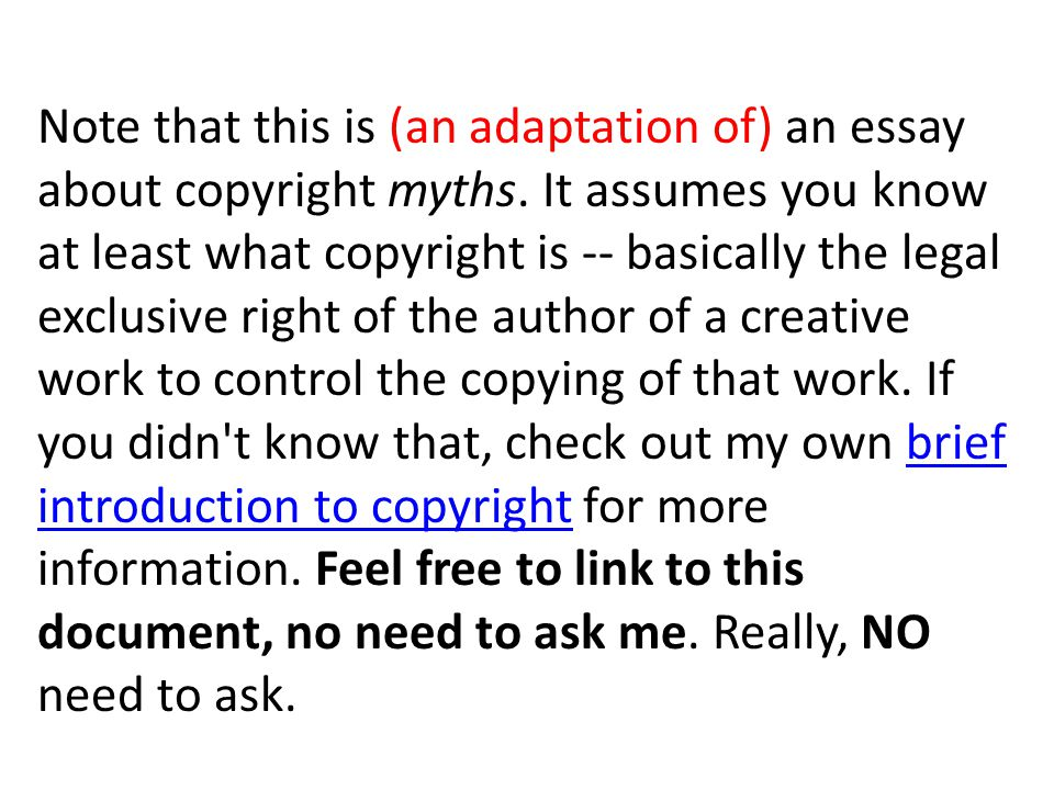 big myths about copyright explained ppt video online  note that this is an adaptation of an essay about copyright myths