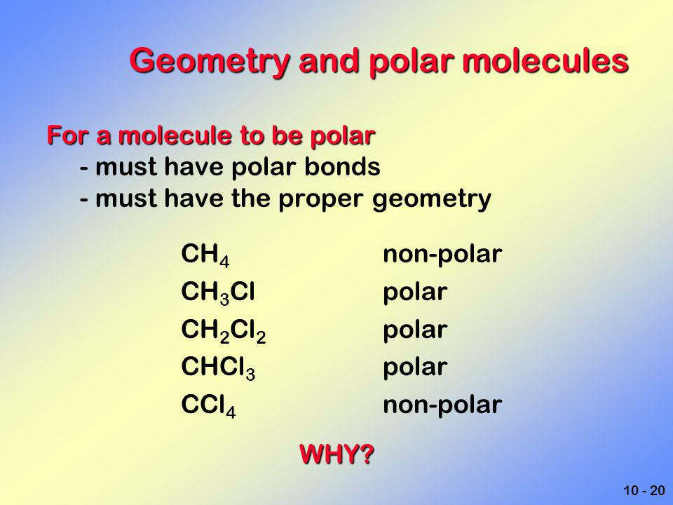 Geometry and polar molecules