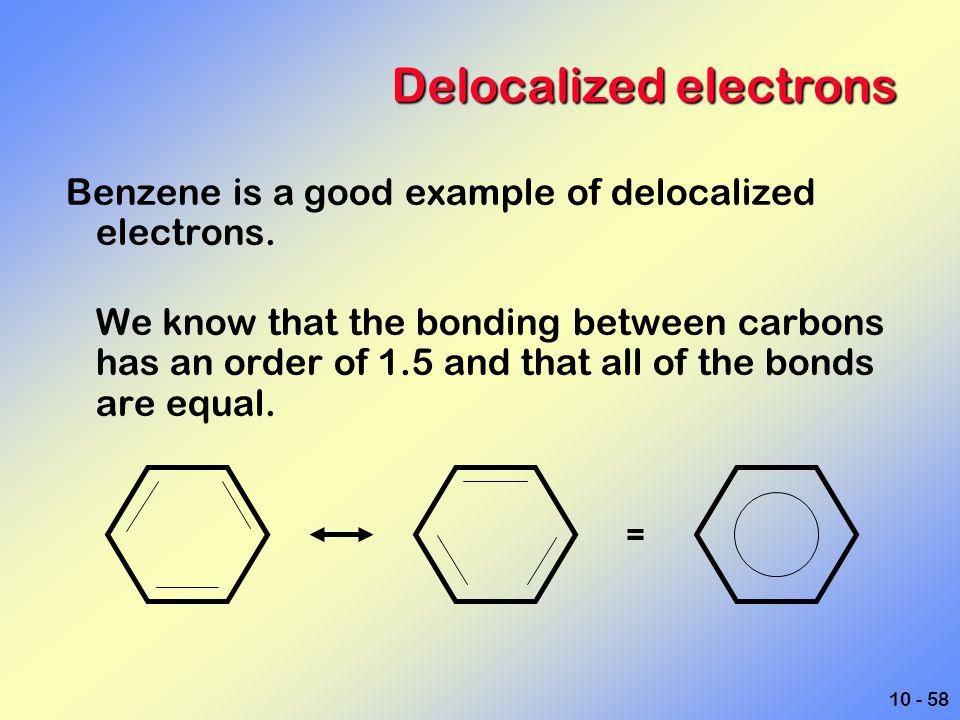 Delocalized electrons