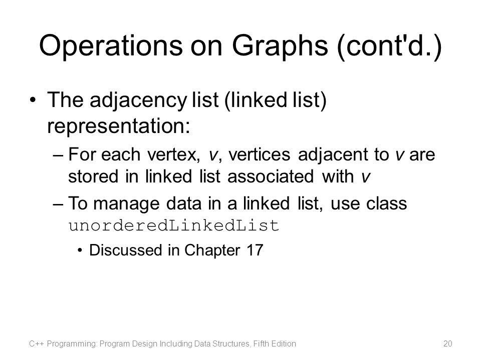 Operations on Graphs (cont d.)