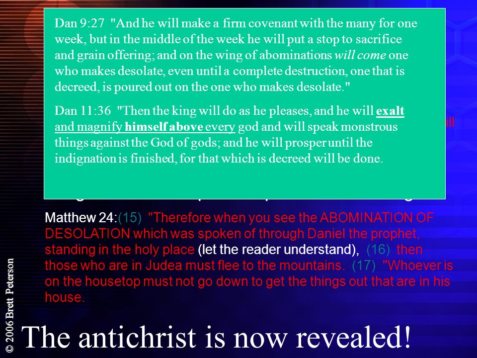 The antichrist is now revealed!