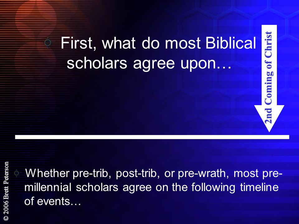 First, what do most Biblical scholars agree upon…