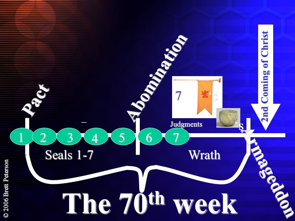 The 70th week Abomination Pact Armageddon 7 's 's