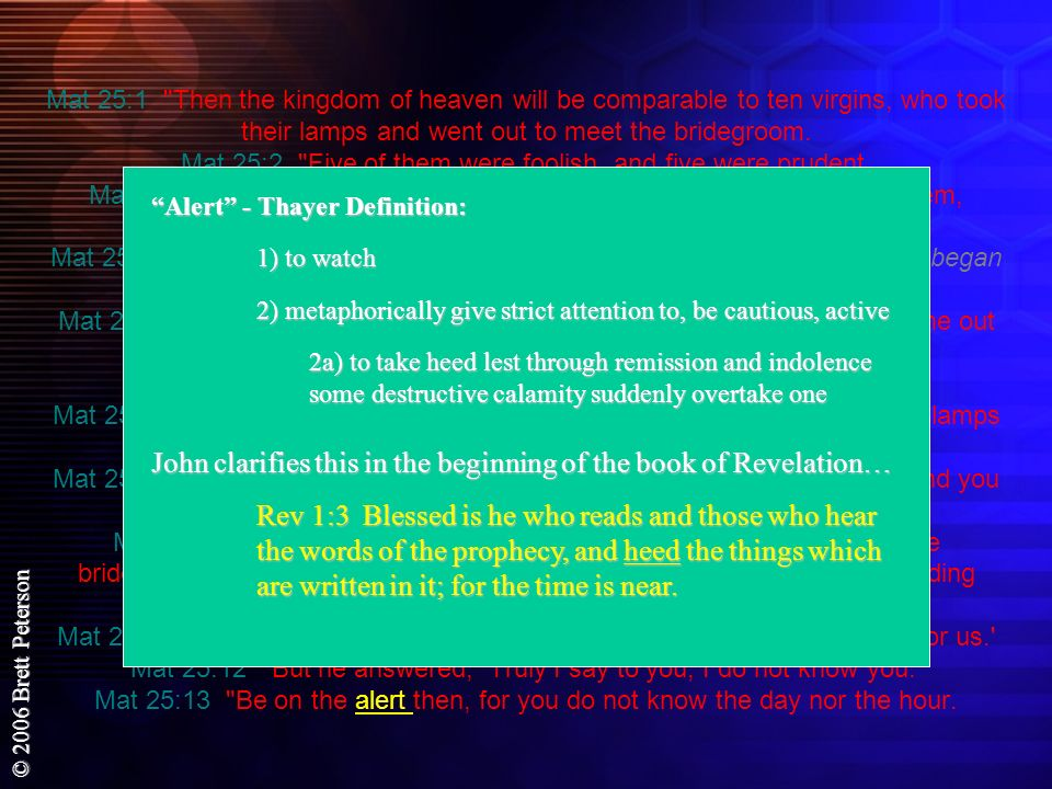 John clarifies this in the beginning of the book of Revelation…