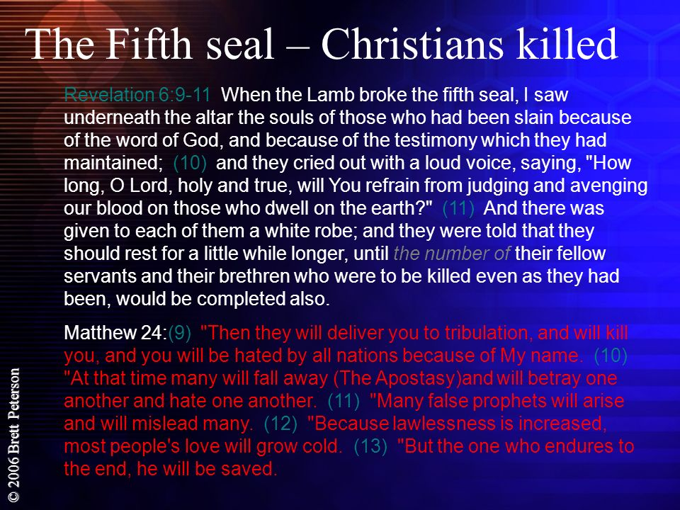 The Fifth seal – Christians killed