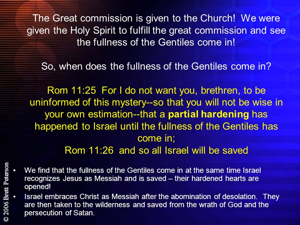 The Great commission is given to the Church