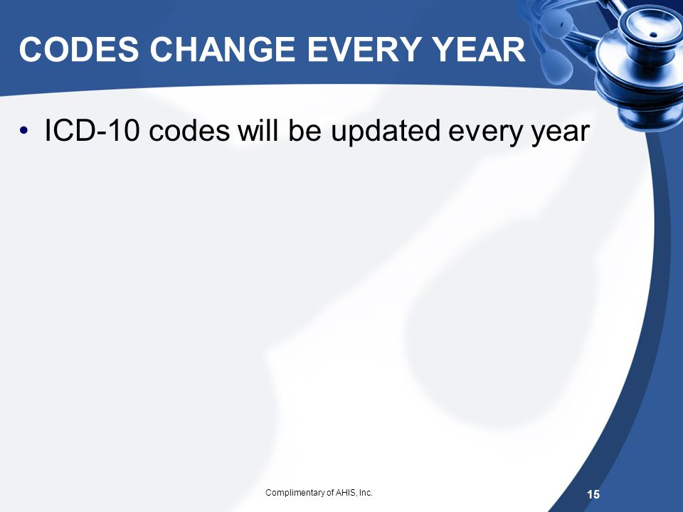 CODES CHANGE EVERY YEAR