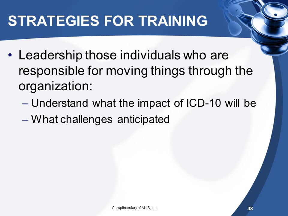 STRATEGIES FOR TRAINING