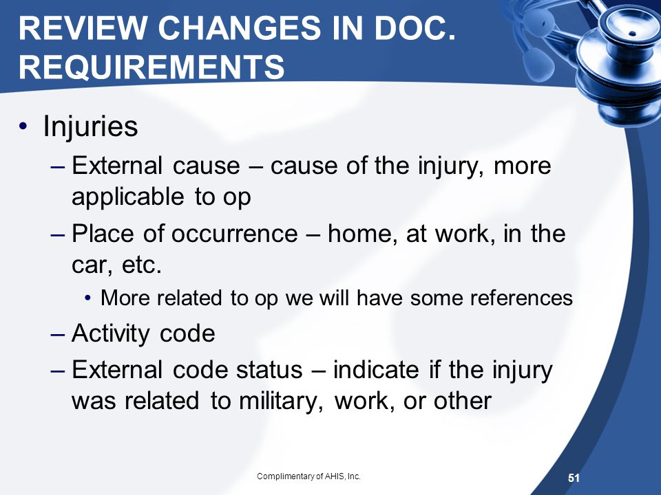 REVIEW CHANGES IN DOC. REQUIREMENTS