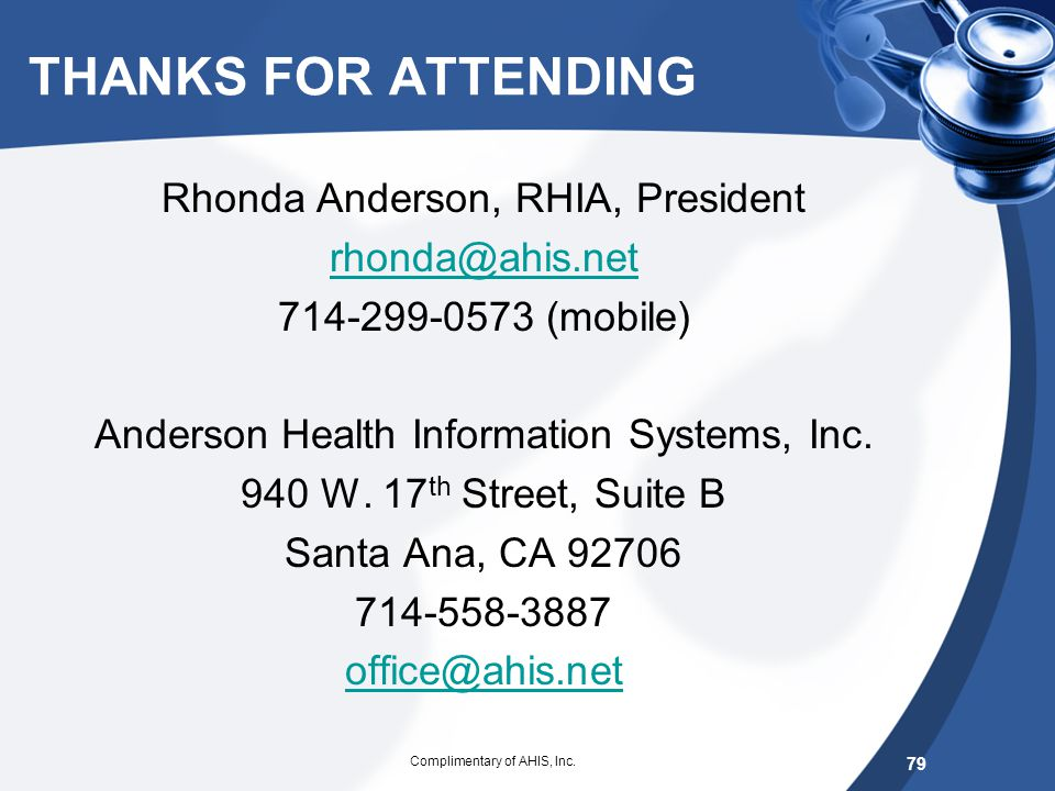 Anderson Health Information Systems, Inc.