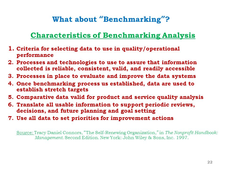 What about Benchmarking