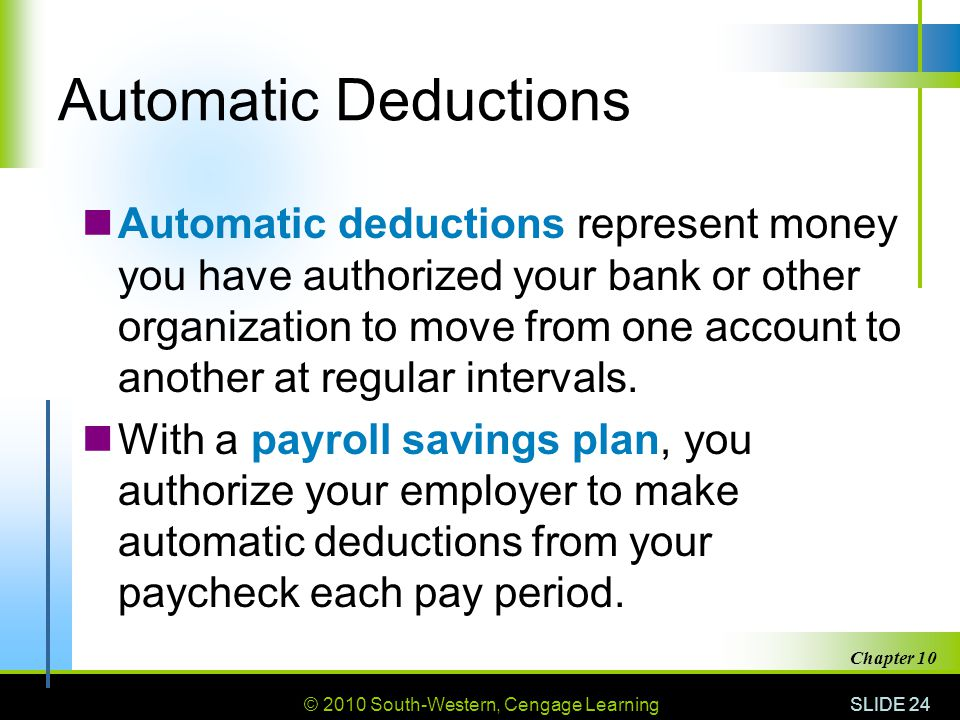 Automatic Deductions