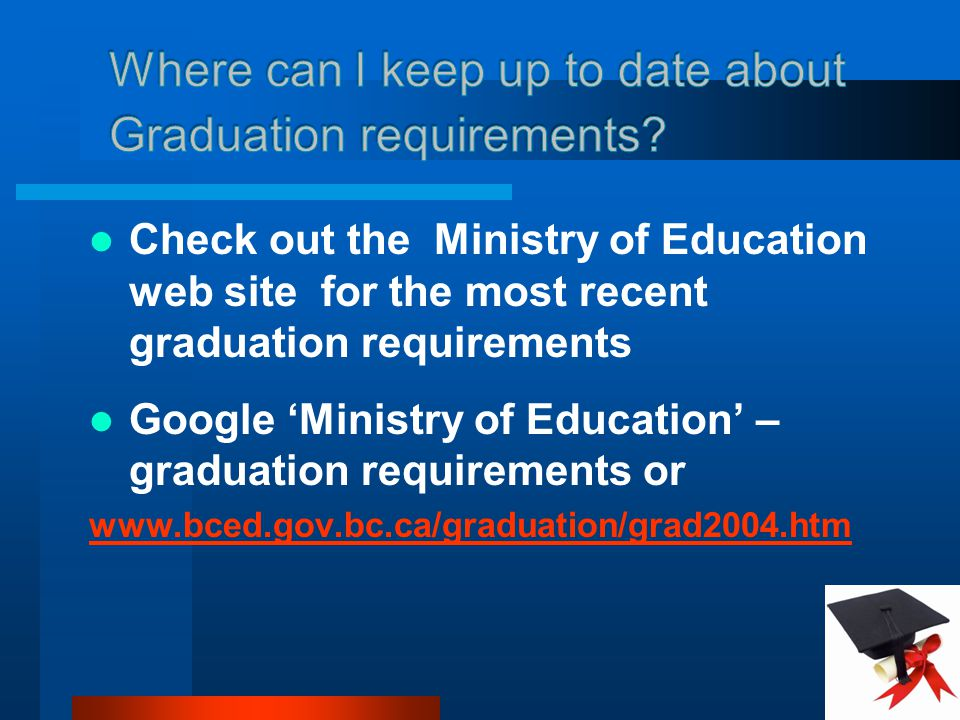 Where can I keep up to date about Graduation requirements