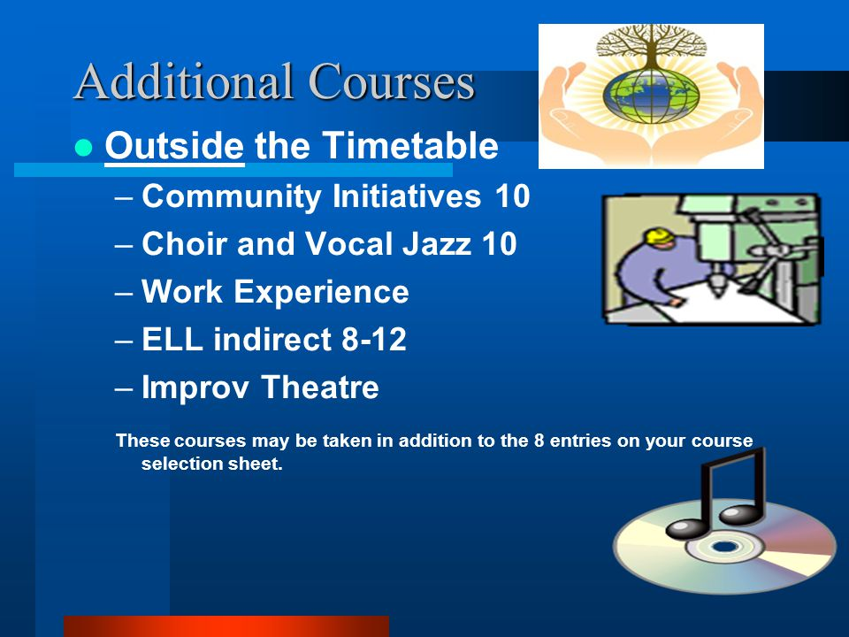 Additional Courses Outside the Timetable Community Initiatives 10