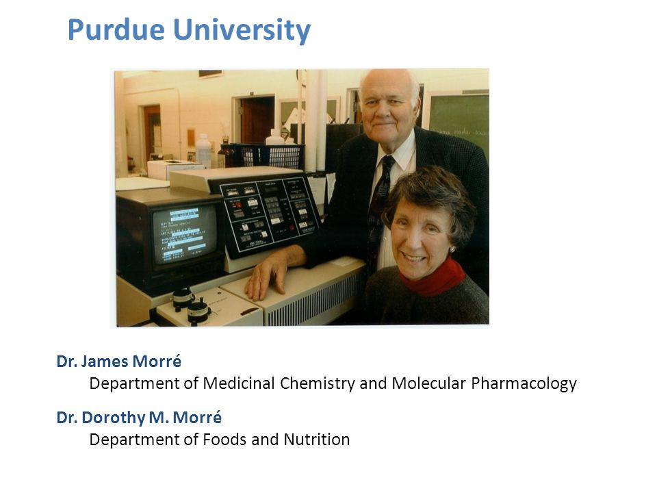 Purdue University Dr. James Morré