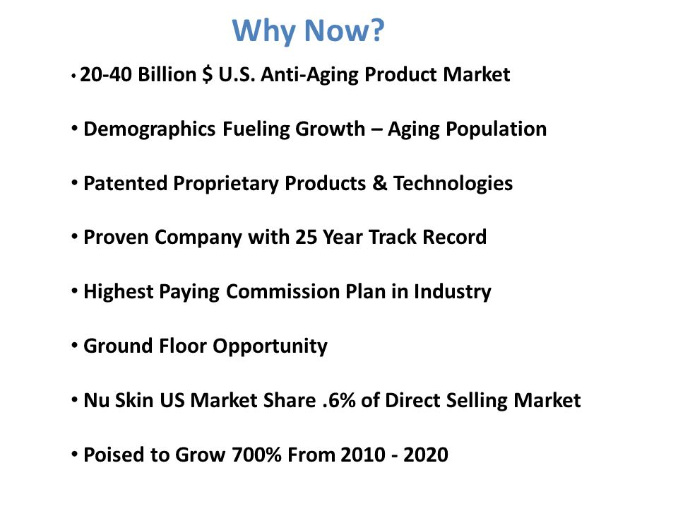 Why Now Demographics Fueling Growth – Aging Population