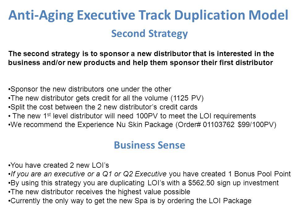 Anti-Aging Executive Track Duplication Model