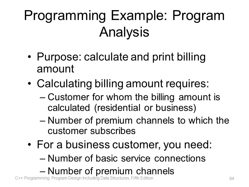 Programming Example: Program Analysis