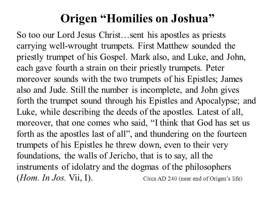 Origen Homilies on Joshua