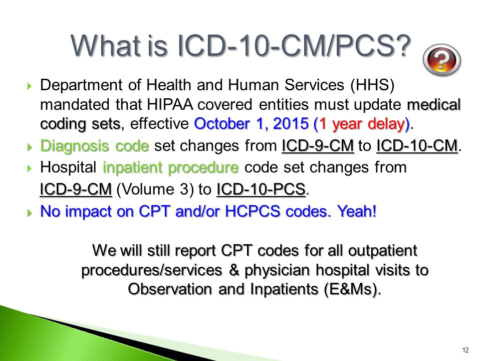 What is ICD-10-CM/PCS